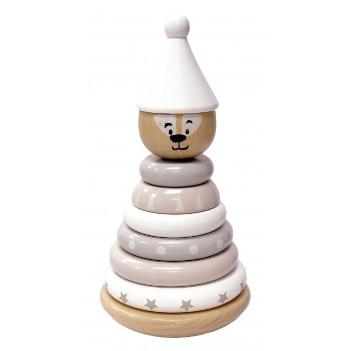 Деревянная игрушка Magni Пирамидка c магнитами Медведь