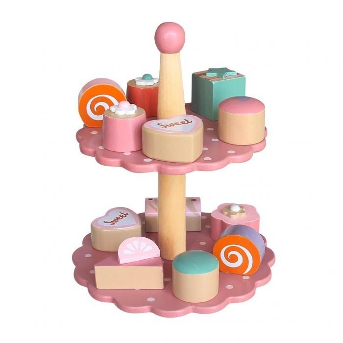 Деревянная игрушка Magni Подставка с пирожными 12шт.