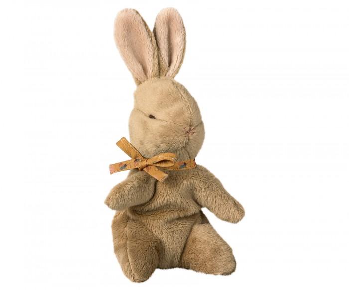 Мягкая игрушка Maileg Заяц малыш с оранжевой ленточкой фото