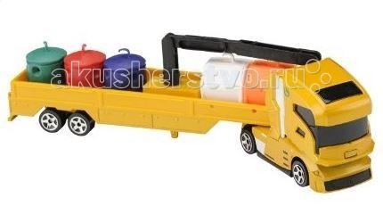 Машины Majorette Машинка-транспортёр Smoby машинка детская smoby smoby мусоровоз vroom planet