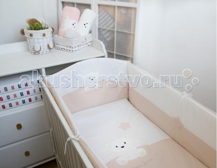 Купить со скидкой Комплект в кроватку Makkaroni Kids Полярный мишка (6 предметов) 120х60 см