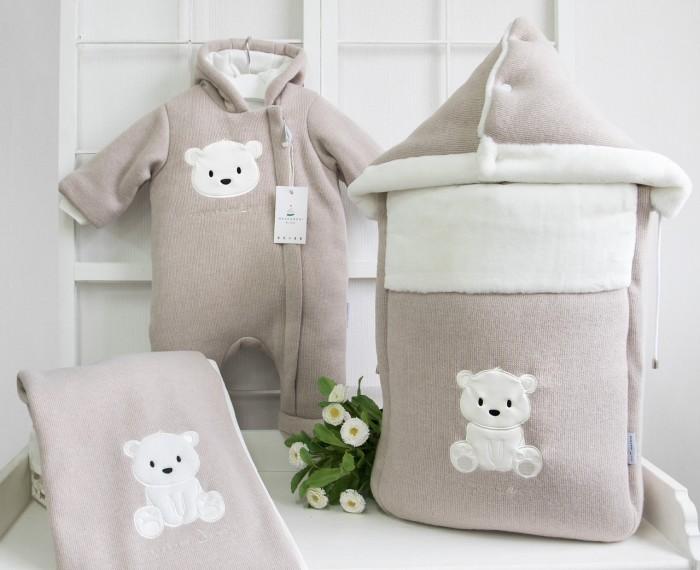 Детская одежда , Конверты на выписку Makkaroni Kids Конверт на выписку Полярный мишка (вязанная ткань) арт: 395794 -  Конверты на выписку