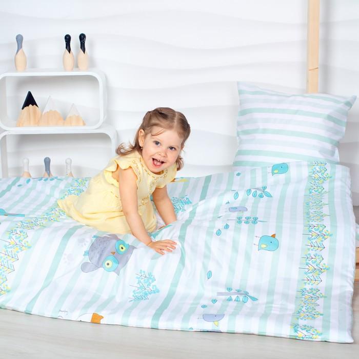 Комплект в кроватку Makkaroni Kids Лесные обитатели (4 предмета) 160x80 см