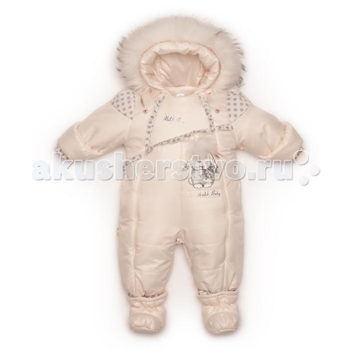 Malek Baby Комбинезон-трансформер 154шм/2Комбинезон-трансформер 154шм/2Теплый зимний комбинезон-трансформер Malek Baby для новорожденного.  Подкладка из натуральной овечьей шерсти. Подкладка отстегивается! Превращая комбинезон в демисезонный, повышается удобство и экономя средства на покупке дополнительного комбинезона.  Данная модель легко из конверта превращается в полноценный комбинезон. Покупая одну вещь вы получаете - две в одной! 1. Зимний конверт 2. Зимний комбинезон Универсальная модель позволит значительно сократить денежные средства!  У трансформера две молнии по бокам. Это позволит легко одеть малыша. На рукавах манжет-отворот, которым можно закрыть ручки ребенку. В комплекте пинетки на кнопке - овечья шерсть. Опушка из натурального меха - песец. Есть возможность отстегнуть.  Комбинезон из овечьей шерсти - это лучшее, что можно придумать для вашего младенца.  Рекомендуемый температурный режим до -30 градусов. Овечья шерсть согреет малыша в зимнюю непогоду. Она обладает лечебными и успокаивающими свойствами, что благотворно влияет на самочувствие детей. Комбинезон Российского производства. Сертифицирован. Верх комбинезона - 100% полиэстер Наполнитель - синтепон 200 г. Отстегивающаяся подкладка - 50% овечья шерсть меринос, 50% полиэстер  Уход: Бережная стирка при 30 градусах.<br>