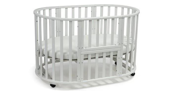 Кроватка-трансформер Малика круглая-овальная Mio 6 в 1