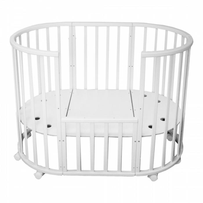 Кроватка-трансформер Малика круглая овальная Milony 7 в 1 бук