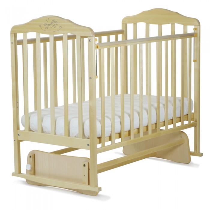 Детская кроватка Малика Зебра с маятником