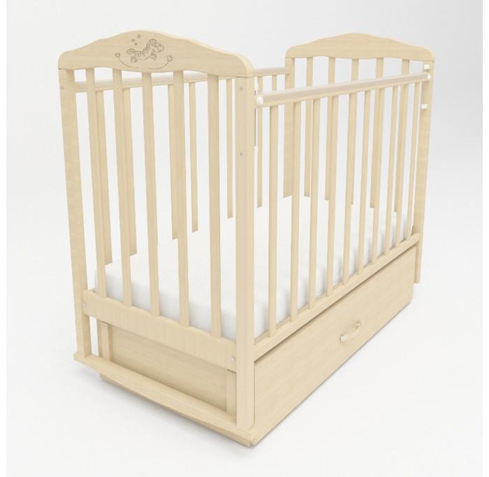 Купить Детские кроватки, Детская кроватка Малика Зебра с маятником и ящиком