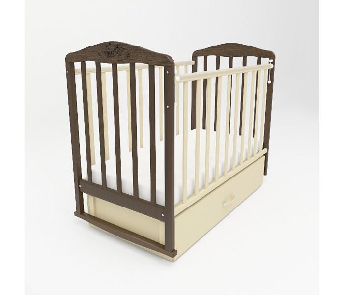 Детские кроватки Малика Зебра с маятником и ящиком