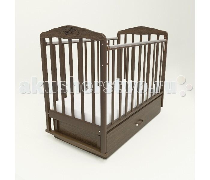 Детская кроватка Малика Зебра с маятником и ящиком