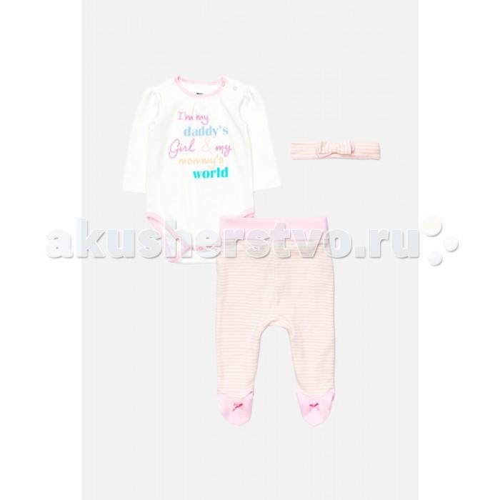 Детская одежда , Комплекты детской одежды Maloo Комплект детский (комбинезон, ползунки, повязка) Squirtle арт: 410319 -  Комплекты детской одежды