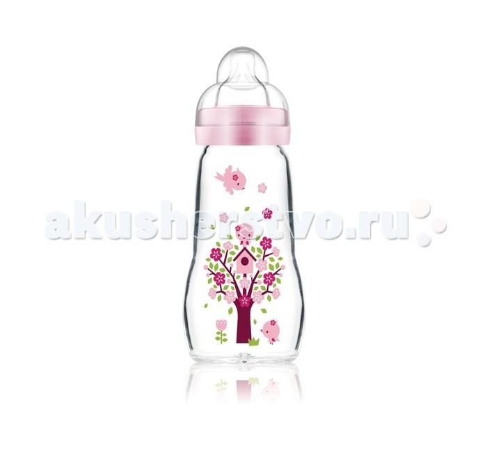 Бутылочки MAM Feel Good Bottle стекло 260 мл бутылочки для кормления mam бутылочка для кормления mam anti colic 160 мл