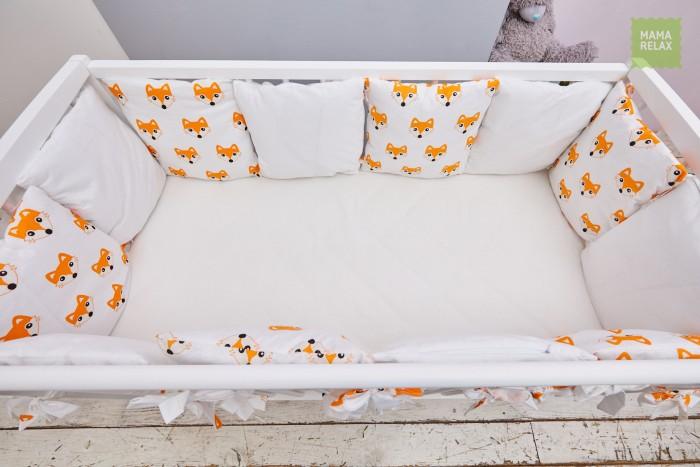 Бортик в кроватку Mama Relax Лисички (12 подушек)