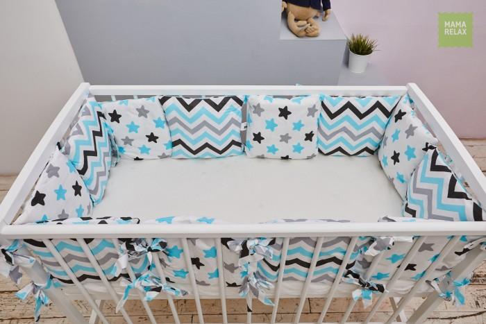 Бортик в кроватку Mama Relax Нежные сны (12 подушек)