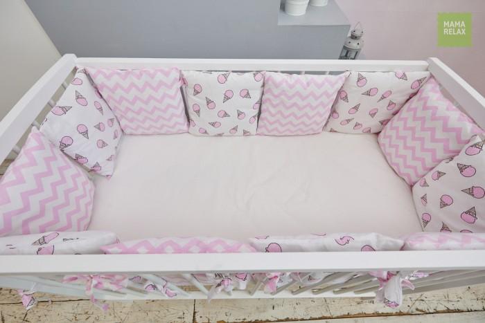 Купить Бортики в кроватку, Бортик в кроватку Mama Relax Розовые мечты (12 подушек)