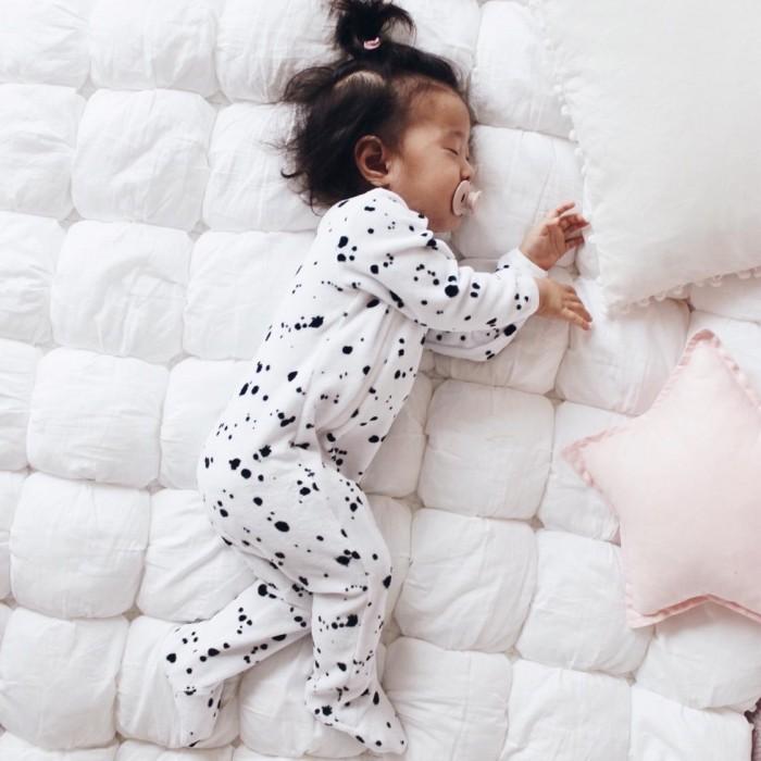 MamaPapa Утеплённый комбинезон Sleep and Play Кляксы (закрытая ножка)