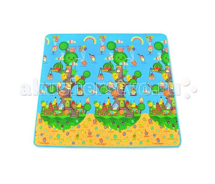 Игровой коврик Mambobaby Фруктовое деревоФруктовое деревоОдносторонний развивающий коврик Фруктовое дерево для ползания для детей от 0 до 4х лет.  Изготовлен из безопасных материалов, не выделяющих токсинов и не имеющих запаха. Непромокаемый, теплоизолирующий, бесшовный, больших размеров, с богатой палитрой цветов, с яркими и милыми картинками из мультфильмов, стимулирующий развитие детского зрения и интеллекта, суперлегкий, сворачивающийся, удобный в переноске, безопасный и комфортный. Это идеальная площадка для ползания, игр и развития Вашего малыша. Способы применения: для ползания, игр, защиты от влажности, использования в качестве подстилки на природе, на пикнике, на рыбалке и т.д. Производство Китай.  Особые свойства товара:  1. Экологически чист, безопасен, нетоксичен.  Все материалы для продукции отобраны из безопасных, экологически чистых материалов, таких как PE, CPP и т.п.. Все показатели соответствуют государственным техническим требованиям безопасности игрушек G 675-2003, прошли отраслевые тесты и тесты компании, в результате чего мы можем гарантировать безопасность использования продукции.  2. Обладает свойствами влагозащиты и теплоизоляции,умеренной мягкостью/жесткостью.  Средний, утолщенный слой коврика сделан из пористого полиэтилена, теплоизолирующего, упругого, подходящего для укрепления детского позвоночника. Нижний слой состоит из полиэстер-алюминиевой пленки, обладающей свойствами тепло- и влагоизоляции. Мягкость/жесткость изделия сбалансирована. Изделие является наилучшей площадкой для ползания и игр младенца в любой из четырех сезонов года, а также пригодится для всей семьи во время путешествий и выездов на природу.  3. Легко моется, транспортабелен.  Цельная поверхность, комбинированный состав, влагоизоляция и легкость в мытье (если ребенок описает коврик, достаточно протереть его тканью), имеет преимущества перед обычными сборными ковриками-матами. Легко сворачивается, кроме того, снабжен сумкой, в которой коврик удобно брать с собой.<br>