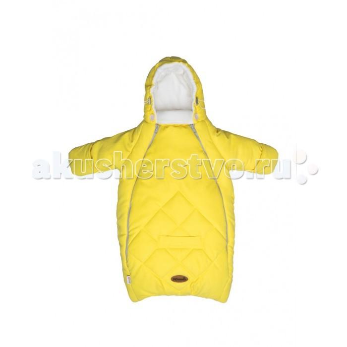 Зимний конверт Mammie для новорожденного с рукавамидля новорожденного с рукавамиMammie Конверт для новорожденного с рукавами предназначен для прогулки с малышом в коляске, идеальный вариант для выписки в автокресле.  Особенности: капюшон плотно прилегает к голове благодаря утяжкам;  длинный воротничок стойка надежно защищает шею ребенка, в сильные морозы воротник можно отвернуть и закрыть лицо ребенка до носа;  мягкая подкладка из флиса,  верх выполнен из мягкой эко-замши с эффектом персика с водооталкивающей пропиткой,   отвороты на ручках (заменяют варежки);  2 молнии, благодаря которым конверт глубоко расстегивается, чтобы ребенка было легче одевать и раздевать;  прорези для автомобильных ремней безопасности;  простота в уходе — конверт можно стирать в стиральной машине. Материал:верх-экозамша (100% полиэстер), подкладка флис (100% полиэстер) утеплитель -полиэстер 300 г/м.кв.<br>