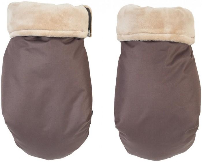 муфта для рук mammie шерсть эко замша цвет экрю Муфты для рук Mammie Муфта-рукавички