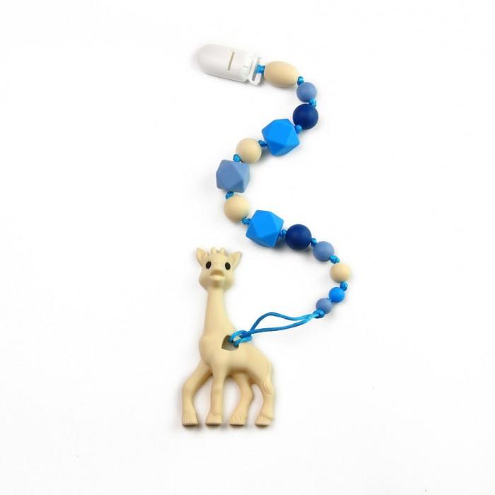 Гигиена и здоровье , Прорезыватели MamSi Грызунок Морской на держателе с клипсой Жираф арт: 518386 -  Прорезыватели