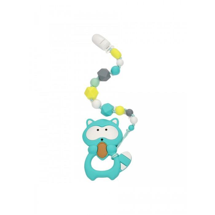 Гигиена и здоровье , Прорезыватели MamSi Грызунок Зефирный на держателе с клипсой Енот арт: 518256 -  Прорезыватели