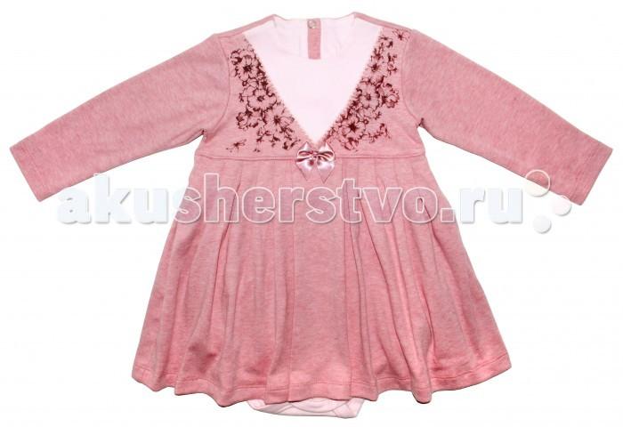 Боди и песочники Мамуляндия Боди-платье для девочки Цветочная 17-2407