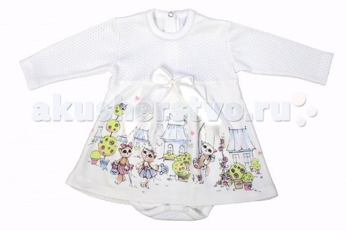 Детская одежда , Боди и песочники Мамуляндия Боди-платье для девочки Мультяшки 17-6008 арт: 346780 -  Боди и песочники