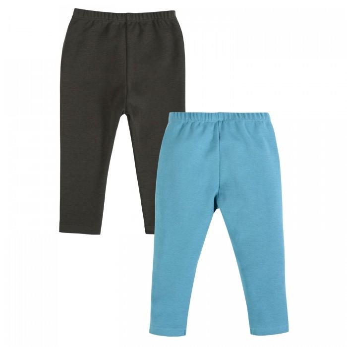 Картинка для Брюки и джинсы Мамуляндия Брюки Slim укороченные для девочки Волны 2 шт.