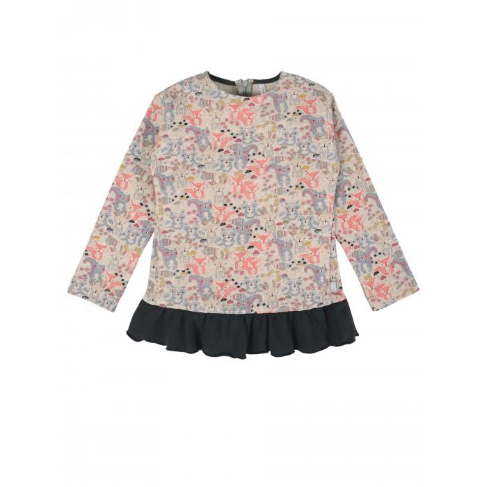 куртка для девочки мамуляндия цвет бежевый меланж 18 208 размер 86 Водолазки и лонгсливы Мамуляндия Джемпер для девочки Лес 20-1801