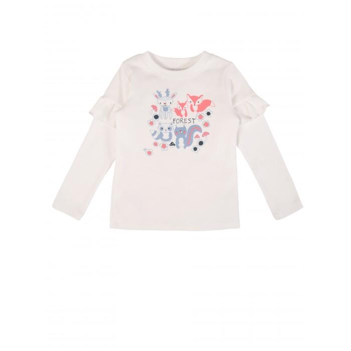 куртка для девочки мамуляндия цвет бежевый меланж 18 208 размер 86 Водолазки и лонгсливы Мамуляндия Джемпер для девочки Лес 20-1802