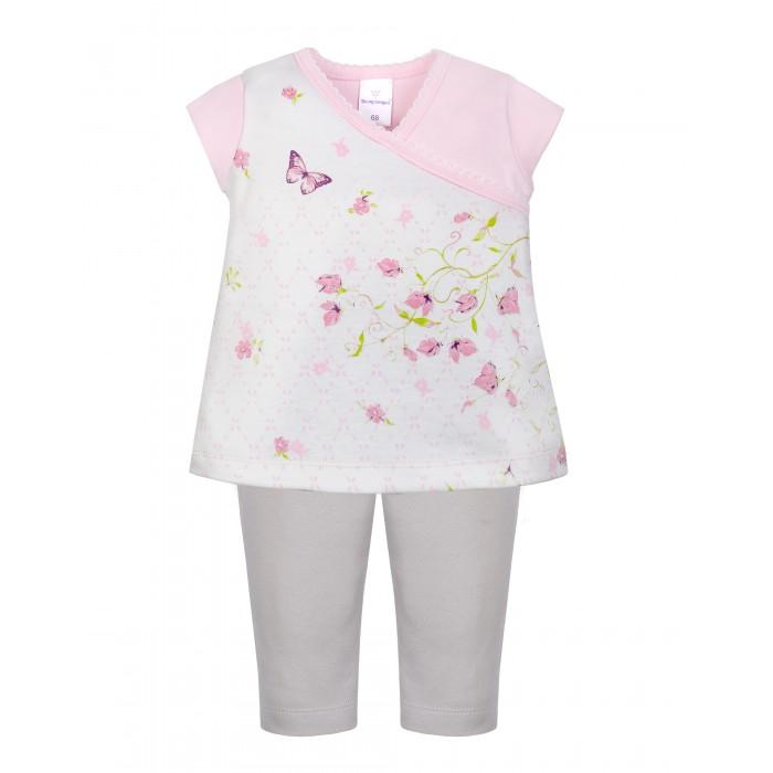 Комплекты детской одежды Мамуляндия Комплект для девочки (футболка, брюки) Флер комплекты детской одежды мамуляндия комплект для девочки платье и жакет клякса