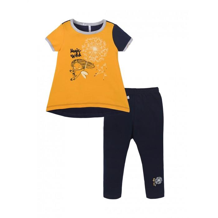 Комплекты детской одежды Мамуляндия Комплект для девочки (футболка, брюки slim) Одуванчики брюки для девочки мамуляндия прогулка по облакам цвет розовый 17 1412 размер 86