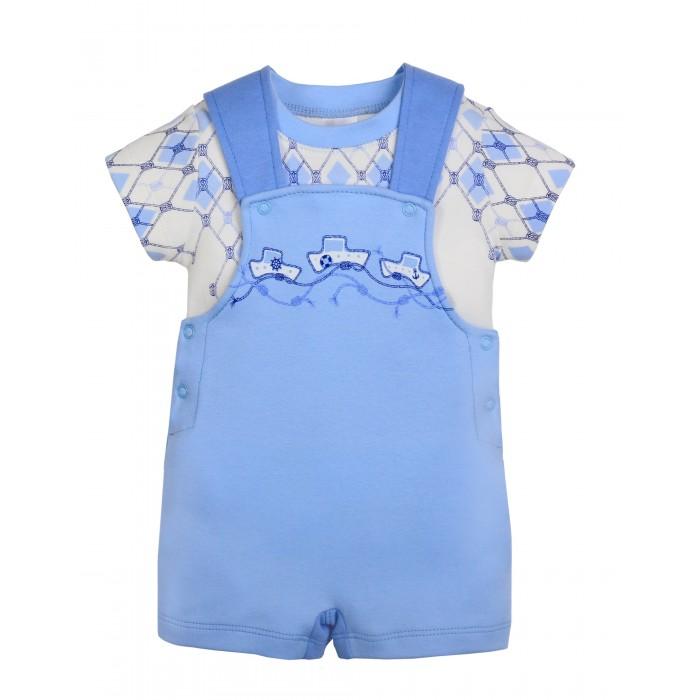 Комплекты детской одежды Мамуляндия Комплект для мальчика (футболка, полукомбинезон) комплекты детской одежды мамуляндия комплект для мальчика полукомбинезон и футболка клякса