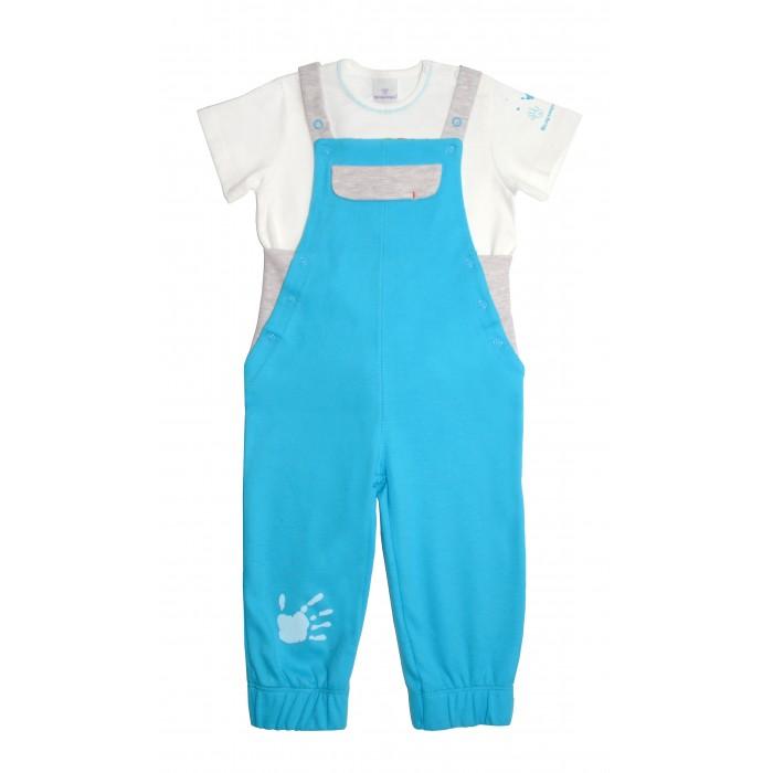 Комплекты детской одежды Мамуляндия Комплект для мальчика (полукомбинезон и футболка) Клякса комплекты детской одежды клякса комплект 4 предмета 55 5529