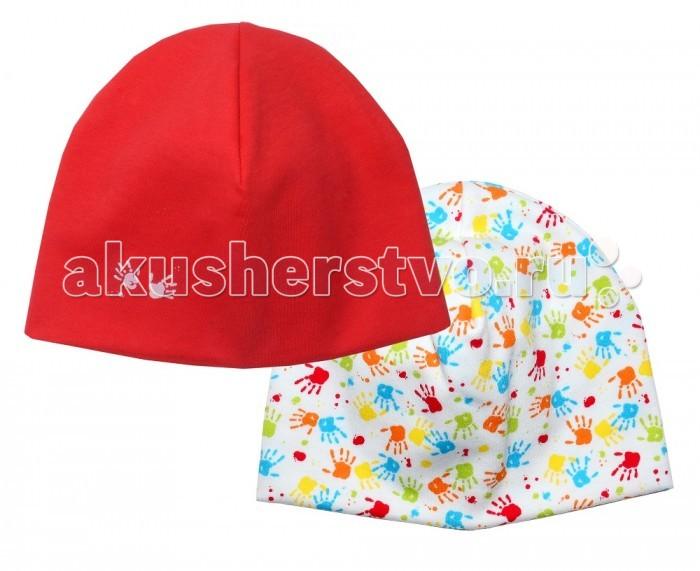 Шапочки и чепчики Мамуляндия Комплект из двух шапок для девочки Клякса комплекты детской одежды мамуляндия комплект для девочки платье и жакет клякса