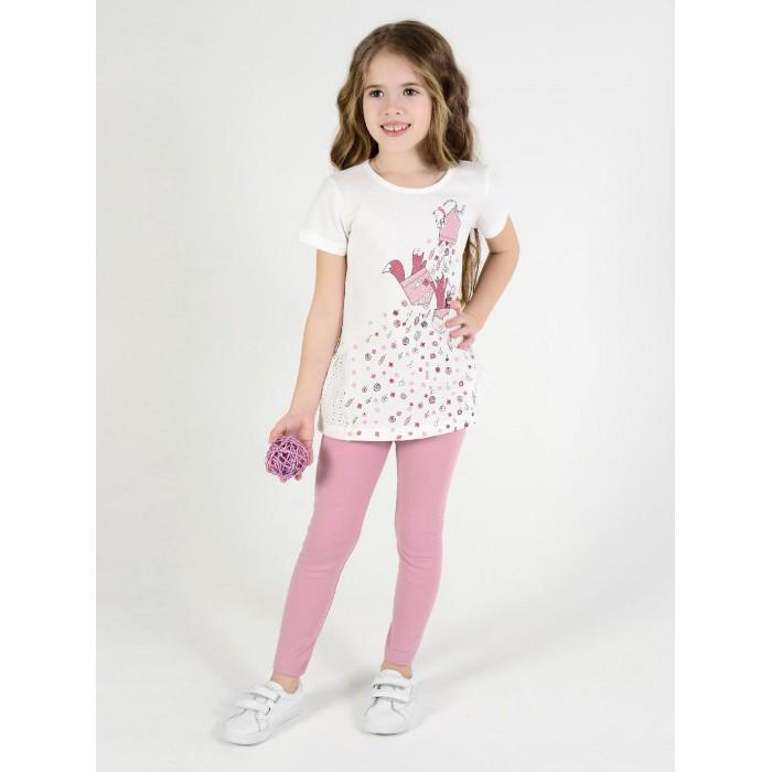 Картинка для Брюки и джинсы Мамуляндия Леггинсы для девочки 20-244