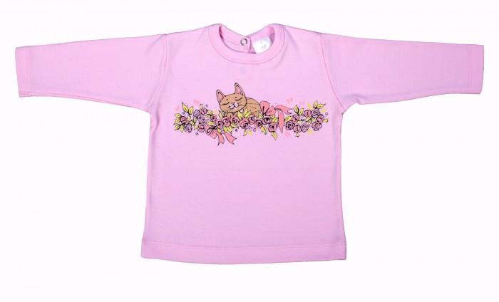 Водолазки и лонгсливы Мамуляндия Лонгслив для девочки Мультяшки 17-607 брюки для девочки мамуляндия прогулка по облакам цвет розовый 17 1412 размер 86