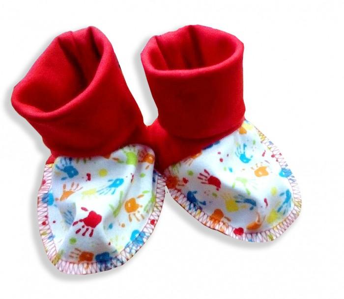 Обувь и пинетки Мамуляндия Пинетки для девочки Клякса одежда для новорождённых