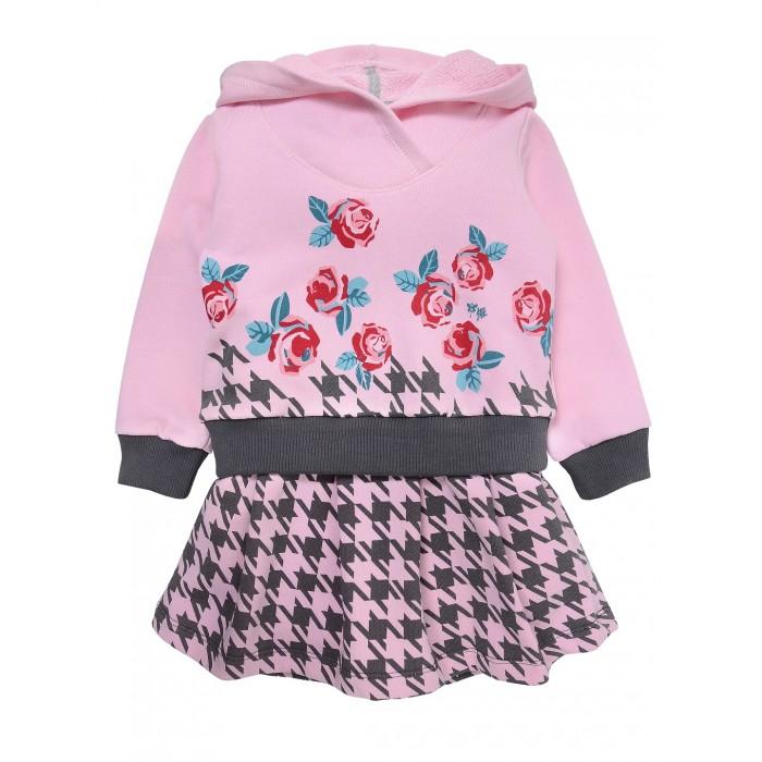 Платья и сарафаны Мамуляндия Платье для девочки 19-825 брюки для девочки мамуляндия прогулка по облакам цвет розовый 17 1412 размер 86