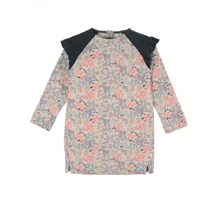 куртка для девочки мамуляндия цвет бежевый меланж 18 208 размер 86 Платья и сарафаны Мамуляндия Платье для девочки Лес 20-1803