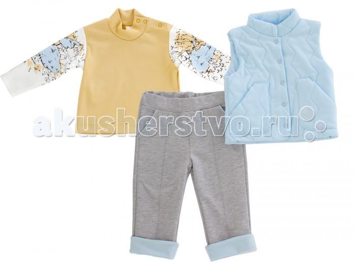 Комплекты детской одежды Мамуляндия Костюм (жилет, брюки, водолазка) Земля-Воздух 17-1005 мамуляндия костюм жилет брюки водолазка земля воздух 17 1005