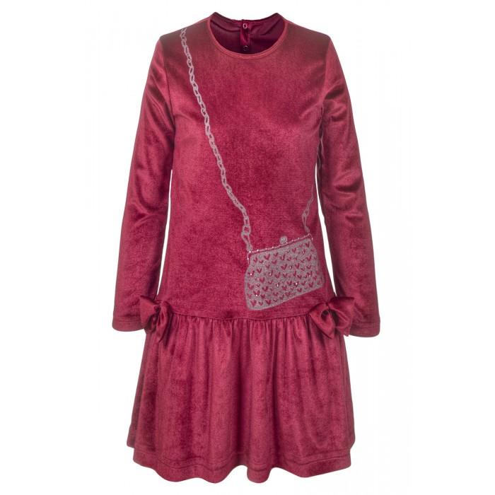 M&D Платье велюровое для девочки А600М210