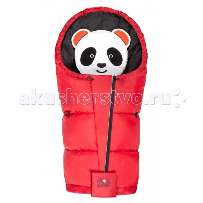 Зимний конверт Mansita флисовый Panda Муфта для ногфлисовый Panda Муфта для ногМуфта для ног Mansita Panda — теплый, легкий и простой в уходе аксессуар, созданный с использованием  современных материалов . Благодаря T-образной молнии (одна молния проходит по центру, две молнии расположены в нижней части) раскладывается в одеяло или игровой коврик.   Слои: Первый (внутренний) слой: Плотный Флис с полыми ворсинками  - 190 г/кв.м.  Второй слой (утеплитель)- пакетный комбинированный утеплитель: внутренняя подкладка пакета выполнена из Холлофайбера  (200 г/кв.м из расчет холодная осень -весна , тёплая зима). Внутри пакета находятся шариковое силиконзированное волокно (утеплитель в форме шариков с пружинистой структурой волокон). Утеплитель «пакета» используется как дополнительный термоизолируюший слой, а также сцепляет шарики, не позволяя им мигрировать внутри конверта при использовании и стирке. Шариковый утеплитель служит дополнительным теплоизолирующий слоем.   Третий (внешний) слой: ткань со специальной экологически безопасной водоотталкивающей пропиткой Water Resist Drop, благодаря которой капли влаги собираются на поверхности и легко скатывается. Плотное плетение волокон является барьером для ветров.   Особенности: Можно использовать для детей до 3 лет.  Рекомендуемая температура для прогулок до -25 °С в качестве верхнего слоя.  Муфта  подходит к коляске-люльке и прогулочной коляске.  На спинке имеются специальные прорези для 5-ти точечных ремней безопасности.  С помощью центральной молнии можно регулировать полы, фиксируя отворот на специальные карабины.  Двойная система центральной молнии позволяет изменяет ширину конверта от 45 до 52 см.  Нижнюю часть конверта можно полностью раскрыть с помощью круговой молнии, раскрыв ножки.  На нижней части в области ножек, находится защитная грязеотталкивающая ткань, которая легко чистится влажной тканью.  На внутренней поле есть термометр, который позволит быть уверенным, что малышу тепло и комфортно.    Состав: Подкладка: 1
