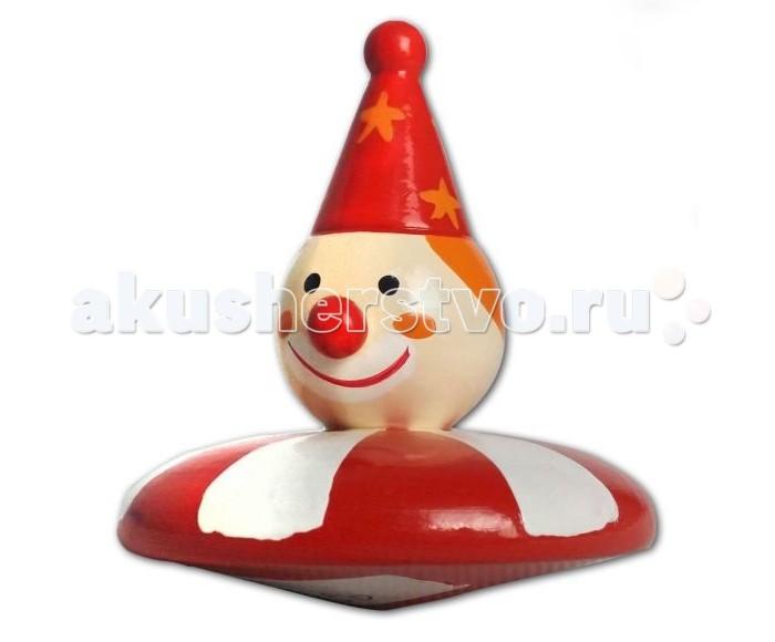 Деревянные игрушки Mapacha Волчок Клоун/Петрушка музыкальные игрушки mapacha шарманка