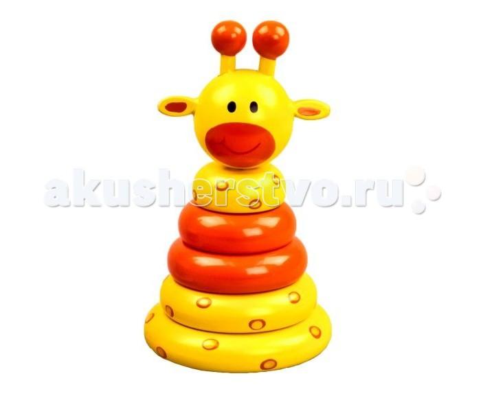 Деревянные игрушки Mapacha Пирамидка Жирафик игрушка пирамидка мишка топтыжка