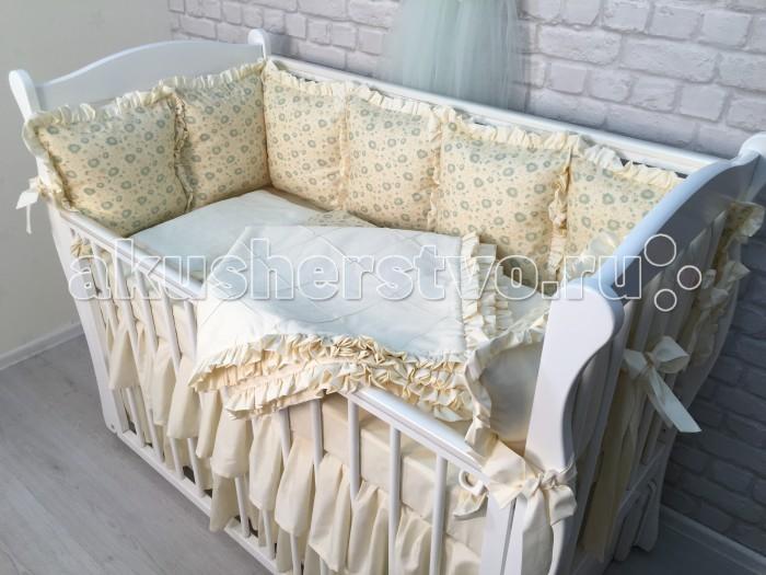 Комплекты в кроватку Marele Нежные Ромашки сатин (7 предметов) marele постельный сет для прямоугольной кровати marele розовая классика 10 предметов