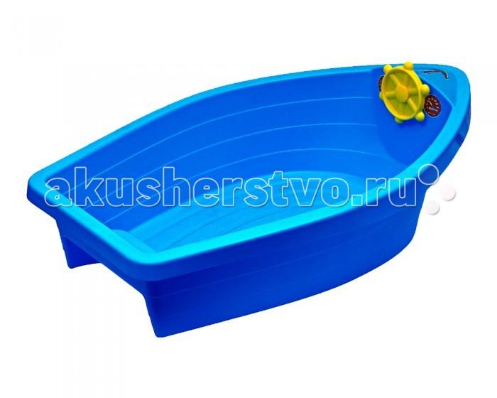 Песочницы Palplay (Marian Plast) Песочница-бассейн Лодочка пластик песочница бассейн marian plast palplay лодочка желтый 308