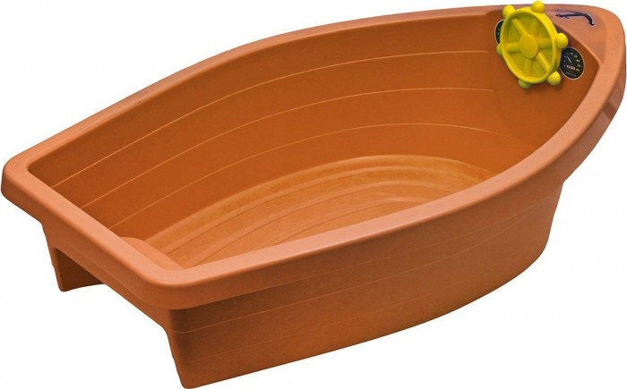 Palplay (Marian Plast) Песочница-бассейн Лодочка + тентПесочница-бассейн Лодочка + тентПесочница бассейн «Лодочка» идеальный вариант для дачного отдыха. Ее можно наполнить или песком или водой. Благодаря покрытию, лодочка или песок в лодочке, всегда останутся сухими, даже после дождя.  Размер песочницы: 129 x 72 x 36 см Вес: 4 кг.  Внимание! Тент во всех расцветках белого цвета!<br>