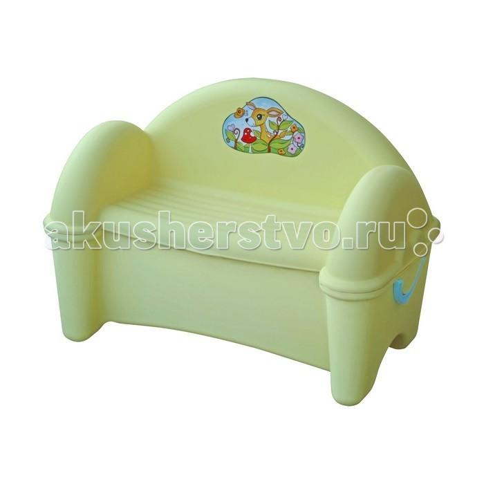 Palplay (Marian Plast) Диван-ящикДиван-ящикДиван с ящиком красиво впишется в Ваш интерьер, а игрушки найдут в нём своё место. Сделан из современных, нетоксичных материалов, с соблюдением европейского стандарта качества и безопасности для товаров для детей.  Характеристики:  Размеры: 77 х 47 х 55 см  Вес: 5 кг  Материал: пластик Рекомендуемый возраст для детей от 1 года<br>