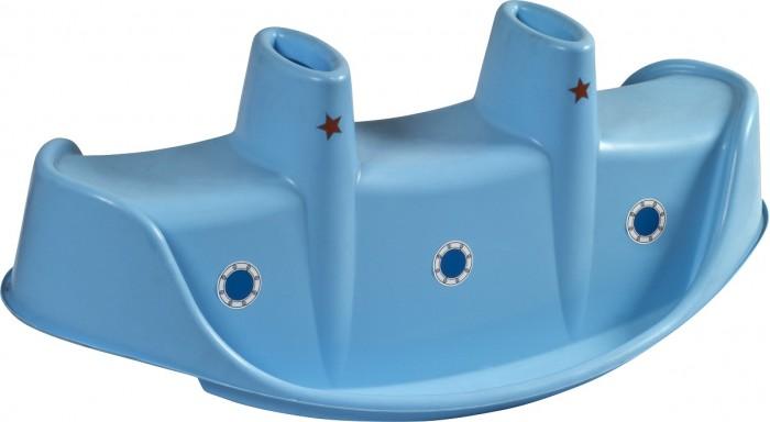 Качалка Palplay (Marian Plast) для троих Пароходдля троих ПароходУдивительная яркая качалка Пароходик идеальное дополнение для детской площадки. На качалку можно посадить 3-х ребятишек. Безопасный крепкий надежный материал. Товар сертифицирован.   Размер 115 x 57 x 44.5 см.  Вес: 2.8 кг.<br>